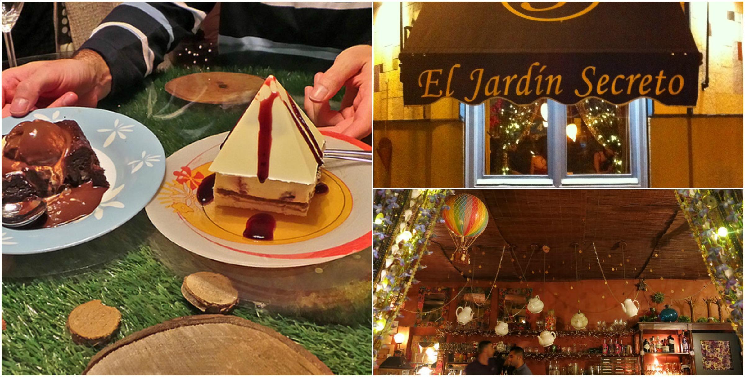 Fractals madrid food tour for Jardin secreto wine