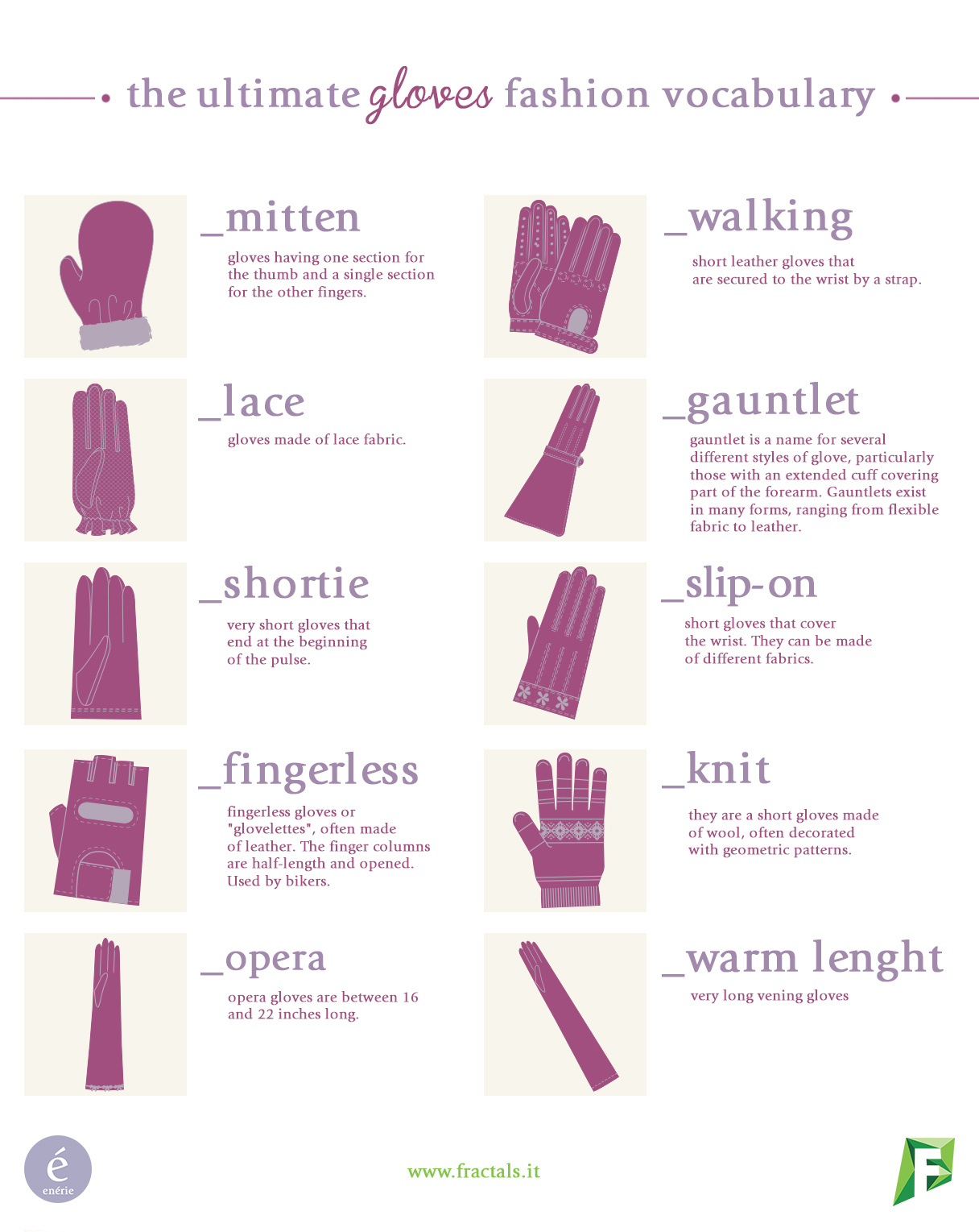 Fractals | The Ultimate Gloves Fashion Vocabulary