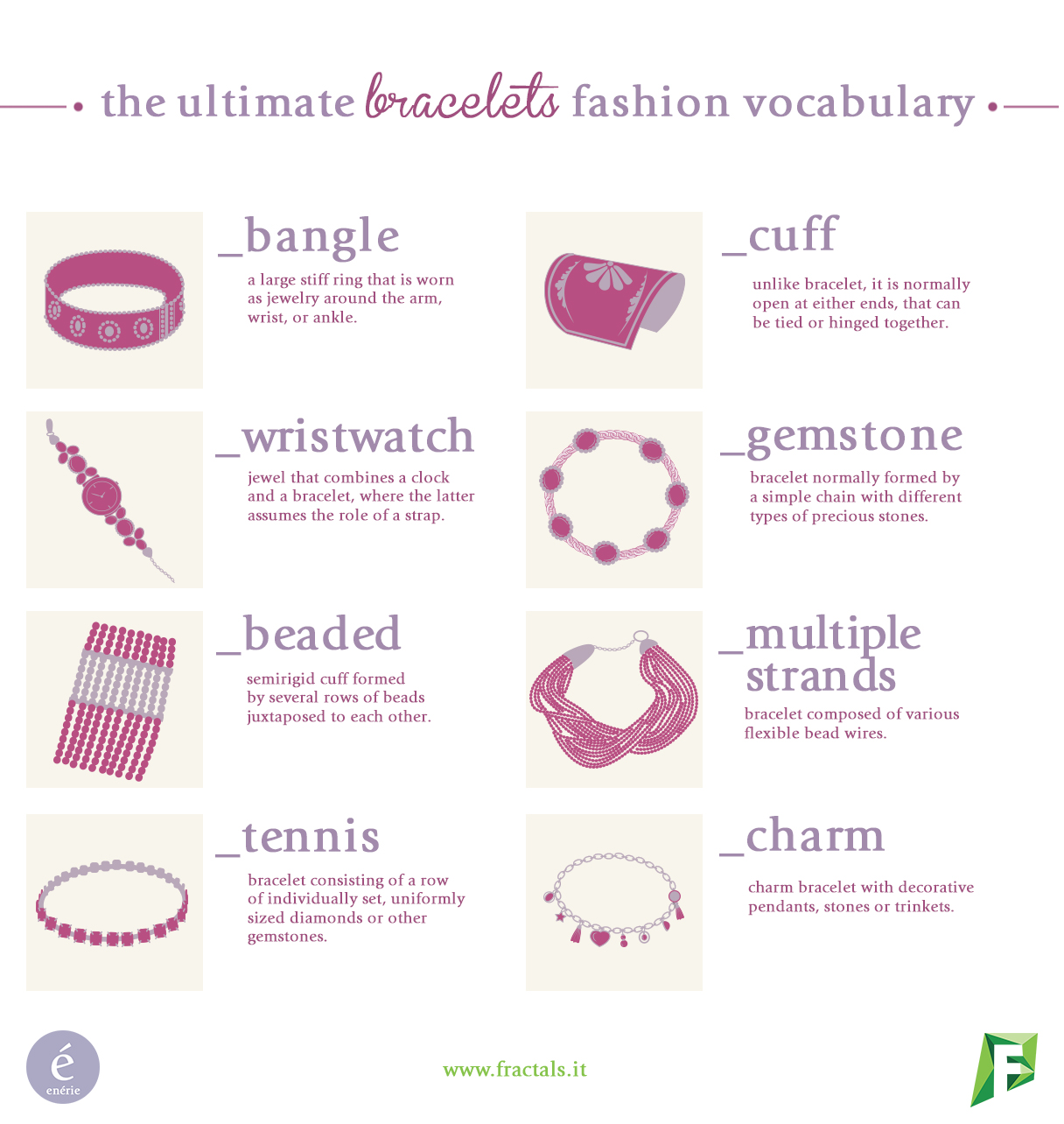 Bracelets vocabulary