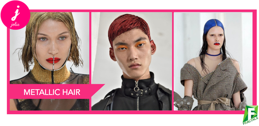 Metallic Hair - Top 5 Beauty Trends from the AW18 Catwalks