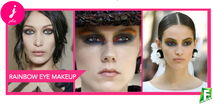 Rainbow Eye Makeup - Top 5 Beauty Trends from the AW18 Catwalks
