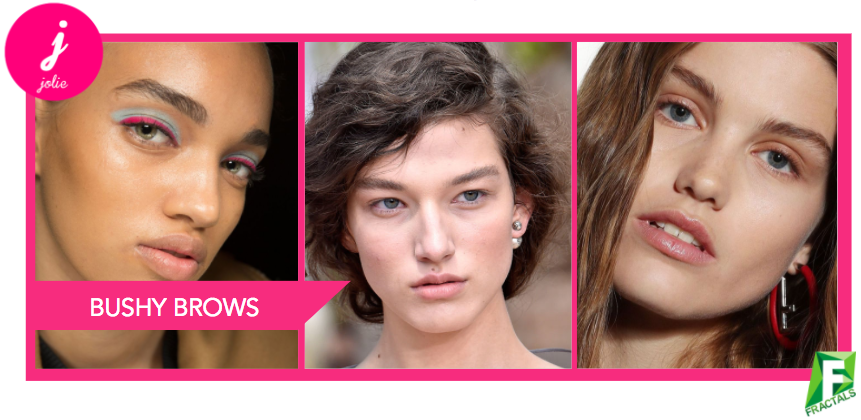 Bushy Brows - Top 5 Beauty Trends from the AW18 Catwalks