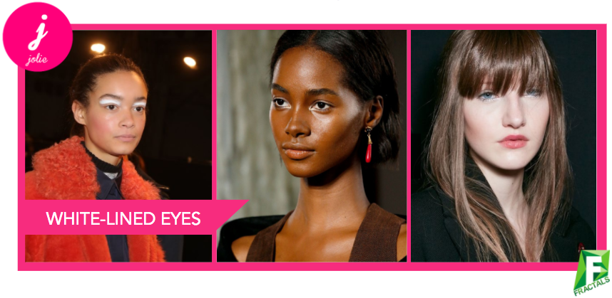 White-lined Eyes - Top 5 Beauty Trends from the AW18 Catwalks